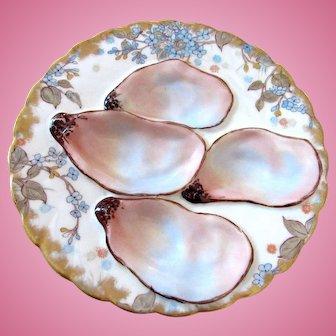 Antique Oyster Plate ~ Haviland ~ Salesman's Sample!