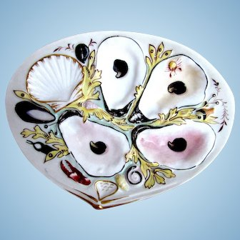 Antique Oyster Plate ~ Union Porcelain Works ~ UPW