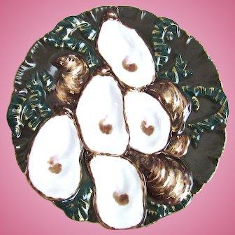 Antique Oyster Plate ~ Haviland Turkey ~ OD ~ RARE!