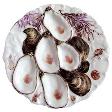 Antique French Limoges Oyster Plate ~ Haviland Crab!