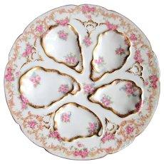 Antique Oyster Plate ~ Limoges ~ Unique!