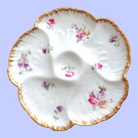Antique Oyster Plate ~ French ~ Haviland