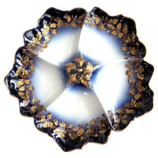 Antique Oyster Plate ~ Flow Blue!