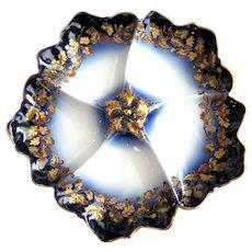 Antique Oyster Plate ~ Flow Blue!