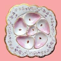 Antique Oyster Plate ~ Squarish ~ Elegant!