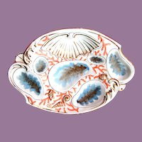 Antique Oyster Plate ~ Batwing!