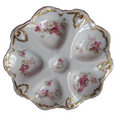 Antique Oyster Plate ~ Hand Painted ~ French Elegant!