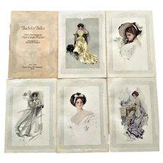 Bachelor Belles Harrison Fisher 1908 Color Prints