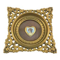 Cameo Creations Framed Porcelain Heart Shaped Portrait Plaque