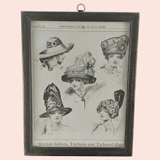 Schuneman and Evans Department Store Catalog Page Ladies Hats c.1910
