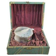 Antique German Porcelain Shaving Mug Original Presentation Box 1904