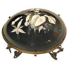 Antique Black Opaline Glass Egg