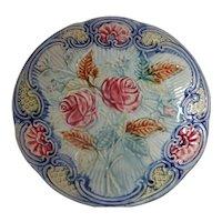 Majolica Leaves & Roses Plate