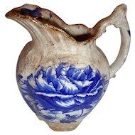 Arcao Imperial China Flow Blue Pottery Pitcher Dunn Bennett Burslem Staffordshire England
