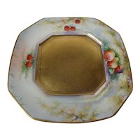 Pickard Limoges Heavy Gold Plate Signed Blaha