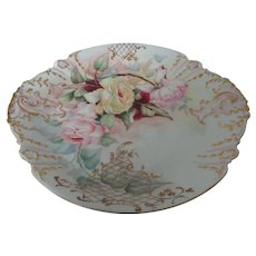 """Haviland Limoges 14"""" Charger Roses and Lattice"""