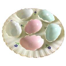 Antique Porcelain Broken Egg Plate