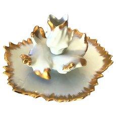 Limoges Art Nouveau Flower Form Candle Holder
