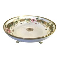 Nippon Three Footed Bowl Poppies