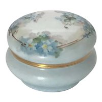 Nippon Noritake Ring Box Forget-Me-Nots