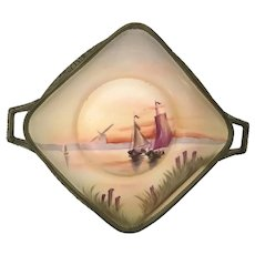 Nippon Double Handle Tray Sailboats at Sunset