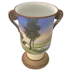 Nippon Miniature Double Handle Vase Loving Cup