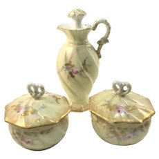 Limoges Antique Dresser Set Perfume and Powder