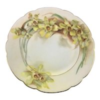 Haviland Limoges Hand Painted Daffodils Plate