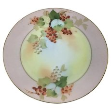 Pickard Currants Plate Signed Paul Gasper