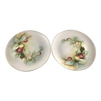 Ginori Italy Pair Plates Apples Ucagco Studios