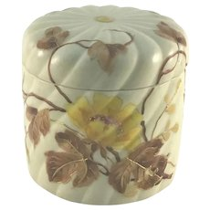 Aesthetic Movement Porcelain Beehive Mold Covered Box c.1880