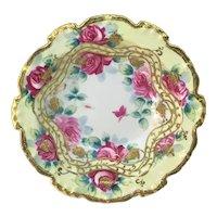 Nippon Pink Roses Moriage Bowl