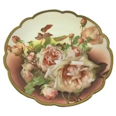 Rosenthal Hand Painted Roses Plate