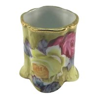Nippon Toothpick Holder Pink and Yellow Roses