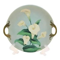 Vintage Calla Lily Double Handle Plate