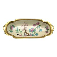 Pickard Cherry Blossom Double Handle Tray Aesthetic Movement