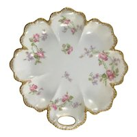 Haviland Limoges Pink Roses French Oyster Plate