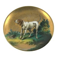 Hunting Hound Pointer Dog Miniature Plate c.1890