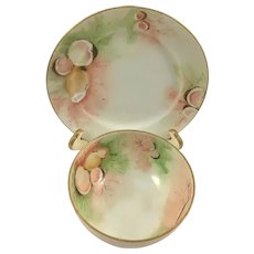Victorian Footed Seafood Sauce Dish with Underplate
