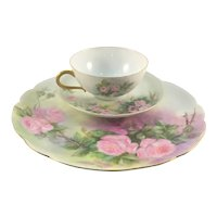 Haviland Limoges Pink Roses Luncheon Set 1903