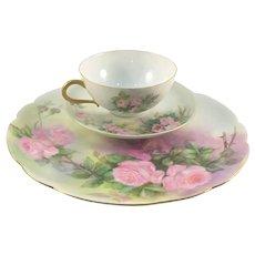 Haviland Limoges Pink Roses Luncheon Set 1903