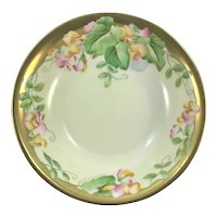 Bavaria Victorian Center Bowl Sweet Peas Signed Remile'