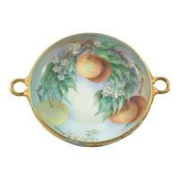 Rosenthal Secession Oranges Heavy Gold Double Handle Center Bowl