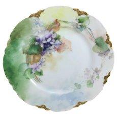 Haviland Limoges Plate Purple Violets