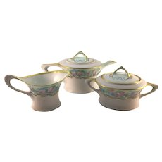 Hutschenreuther Bavaria Art Deco Tea Set Pink Roses