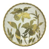 JH Stouffer Golden Orchid Plate Signed M. Lawrence