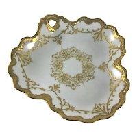 Limoges Comte D'Artois Victorian Candy Dish Heavy Gold