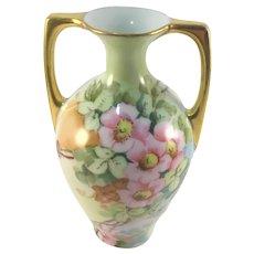 Austria Petite Double Handle Vase Wild Roses