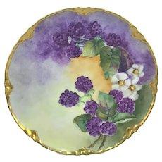 Haviland Limoges Purple Blackberries Plate