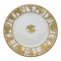 Nippon Gold Grapes Grape Leaves Plate